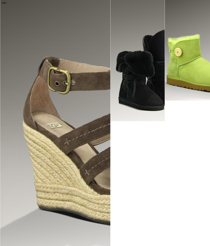 ugg australia winter boots aus leder (schwarz)