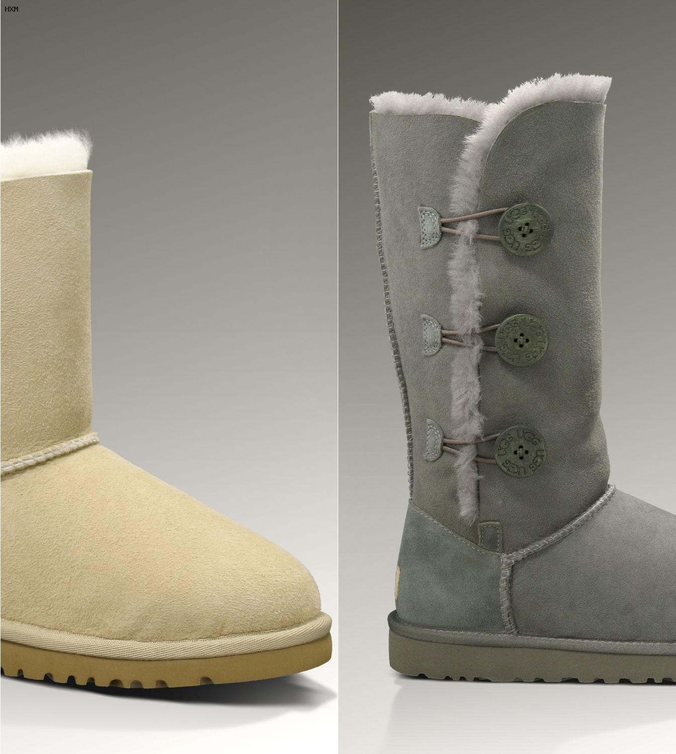 ugg bailey button mini grau kinder